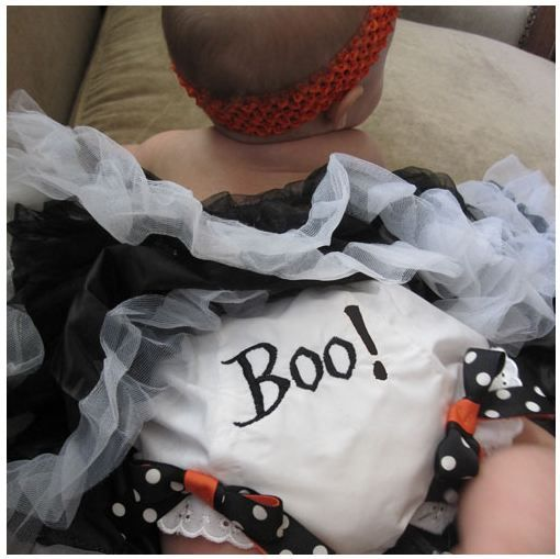 halloween boo bloomers and headband