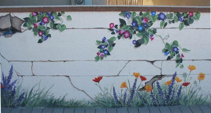 Beau Stunning Garden Wall Murals Ideas Fence Mural Sart Diy Home .