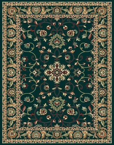 A Traditional Hunter Green Area Rug 6x8 Persian Carpet Actual 5u0027 3