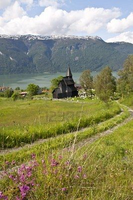 Urnes, Stave church, one of the oldest wooden structures in Norway