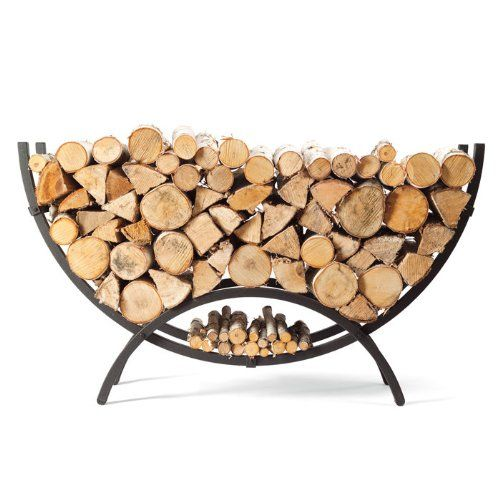 5 Woodhaven Crescent Shaped Firewood Rack 1 8 Cord Firewood Storage Indoor Firewood Holder Firewood Storage