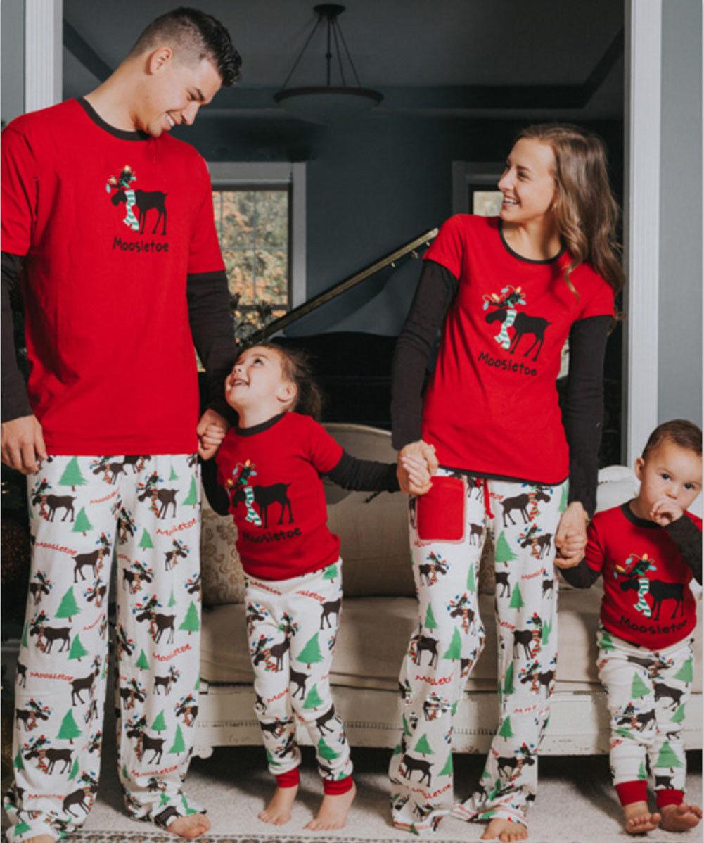 2da2c205a8  8.96 - Family Matching Christmas Pajamas Set Men s Women Kids Elk Sleepwear  Nightwear  ebay  Fashion