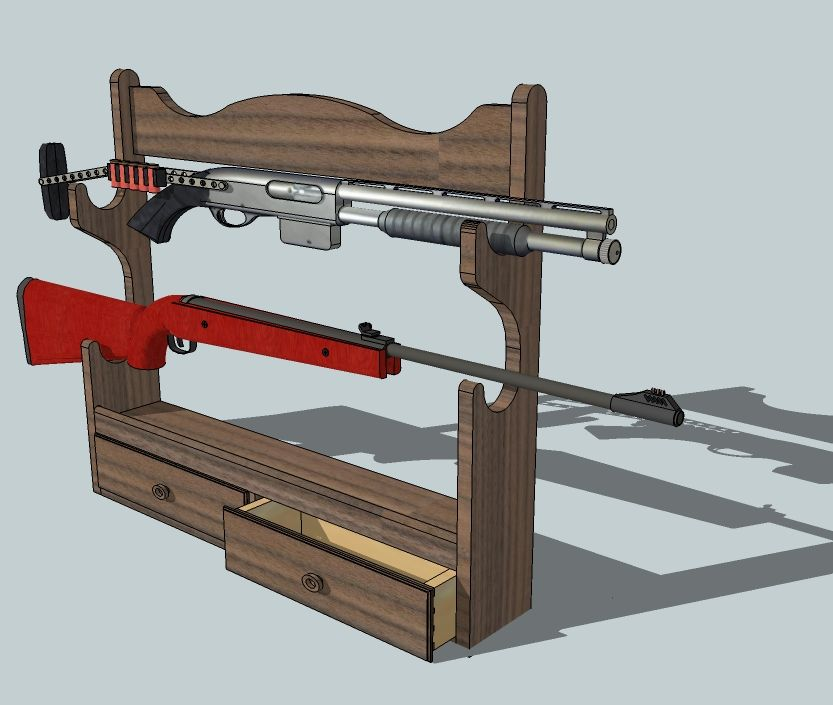 Wood Projects Gun Rack Woodworking Plan Ideas Woodworking