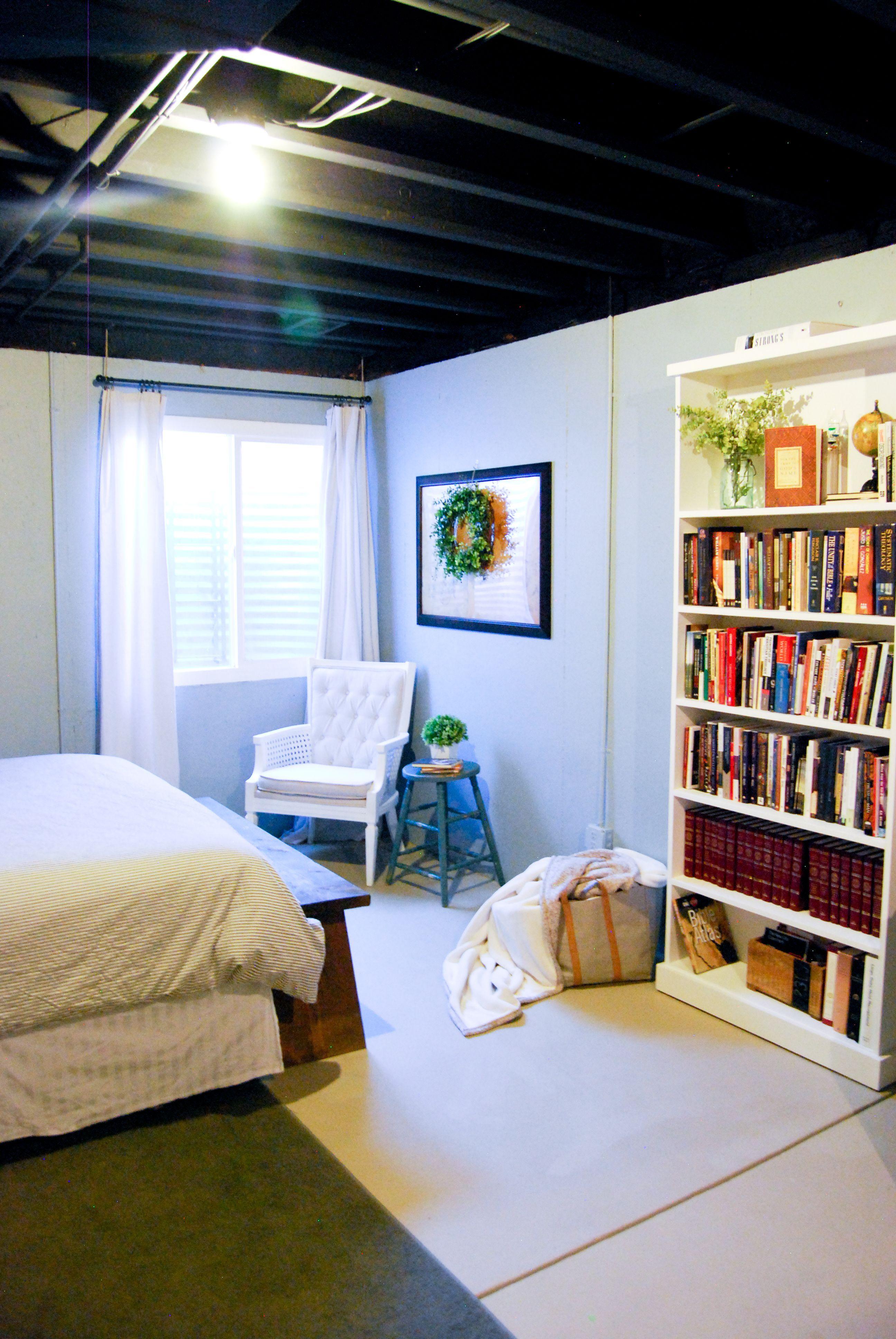 Unfinished Basement Guest Bedroom Basement master