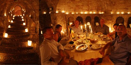 For a simple tradional meal of Teramane cooking,  special occasion hiring the cave for dinner at La Neviera, village of Canzano.
