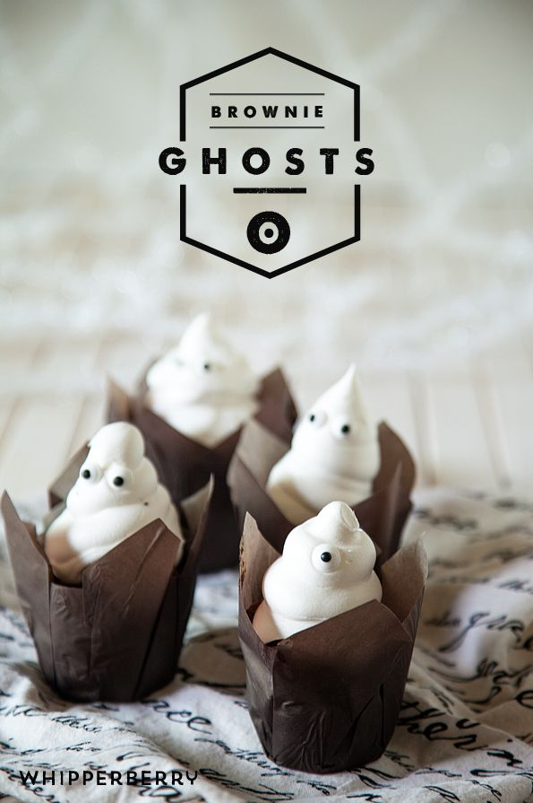 Brownie Ghosts from WhipperBerry   Halloween Recipes   Pinterest ...