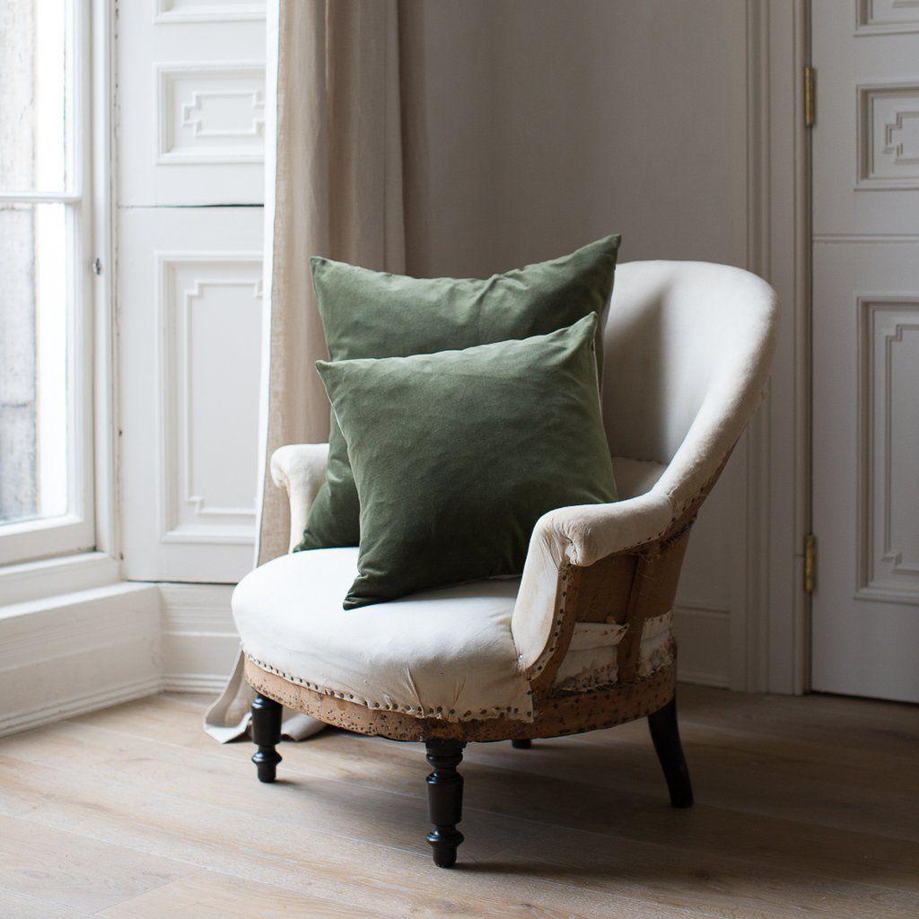 Kirsten Hecktermann dark green velvet cushion covers uk