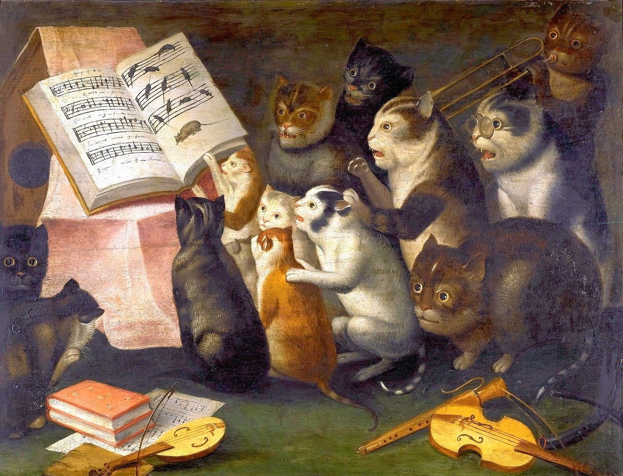 Коты поют картинка