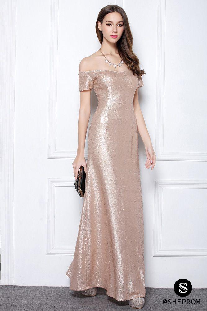 Sparkly Sequin Off Shoulder Long Formal Dress 97 Ck627 Sheprom