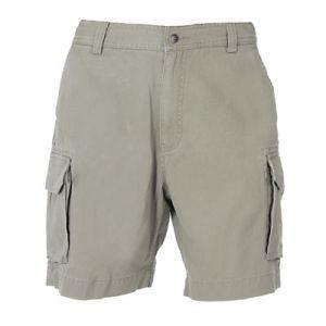 Berne Apparel Men's Sanded Twill Cargo Shorts Dark Khaki