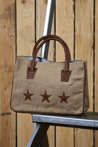 Star Crossed Recycled Canvas Handbag / #Vintage #Eco #Inspired #Canvas #Bag #Handbag #Purse #Upcycled #Recycled #Green #Earth #MonaB #Mona B
