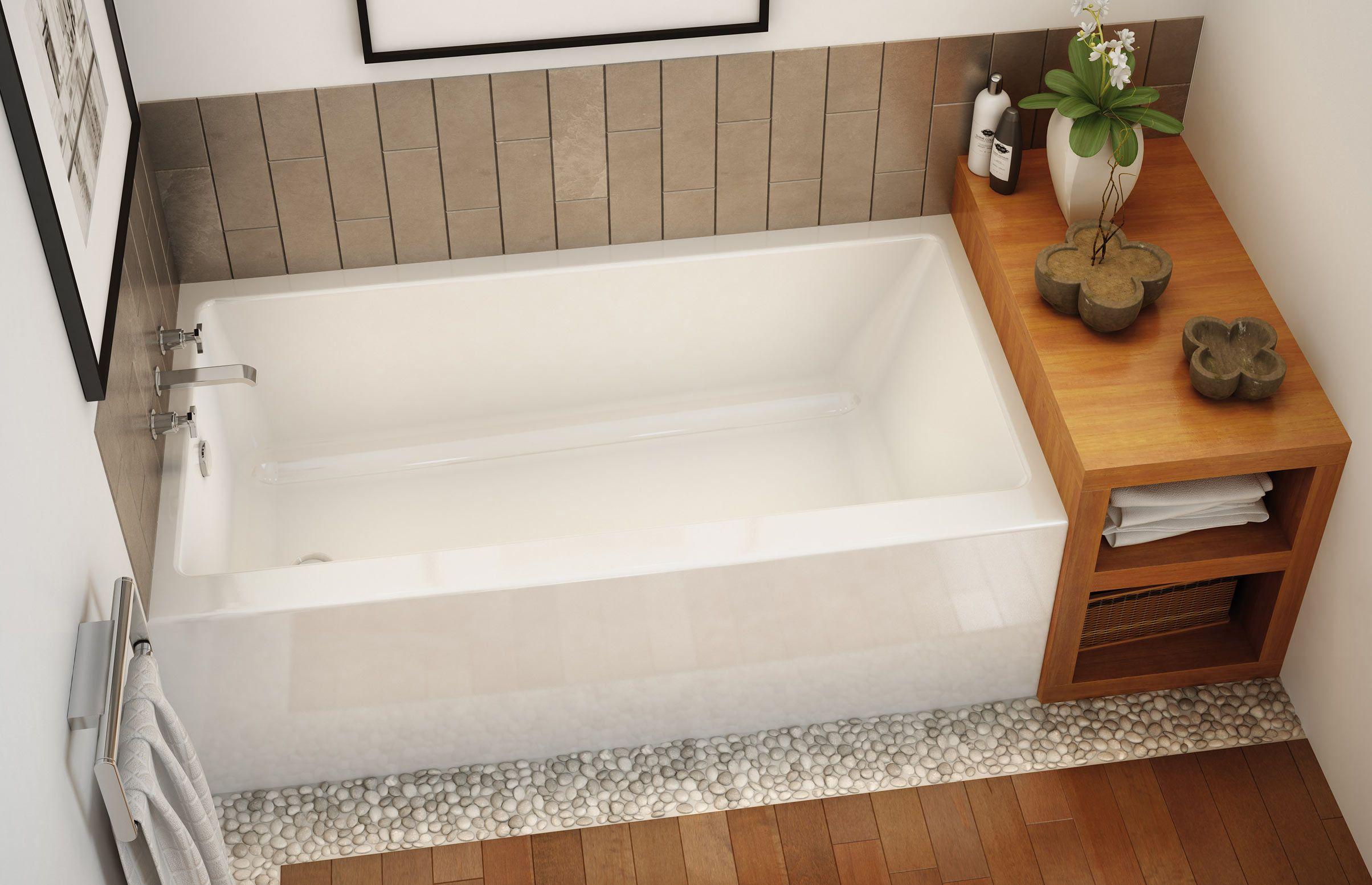 Maax professional rubix 6030 6032 alcove bathtub 60 x30 for Garden tub sizes