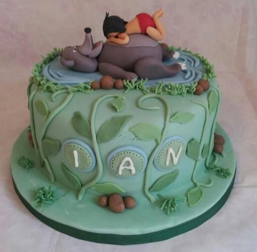 Jungle book cake x Cake Projects Pinterest Book cakes Cake