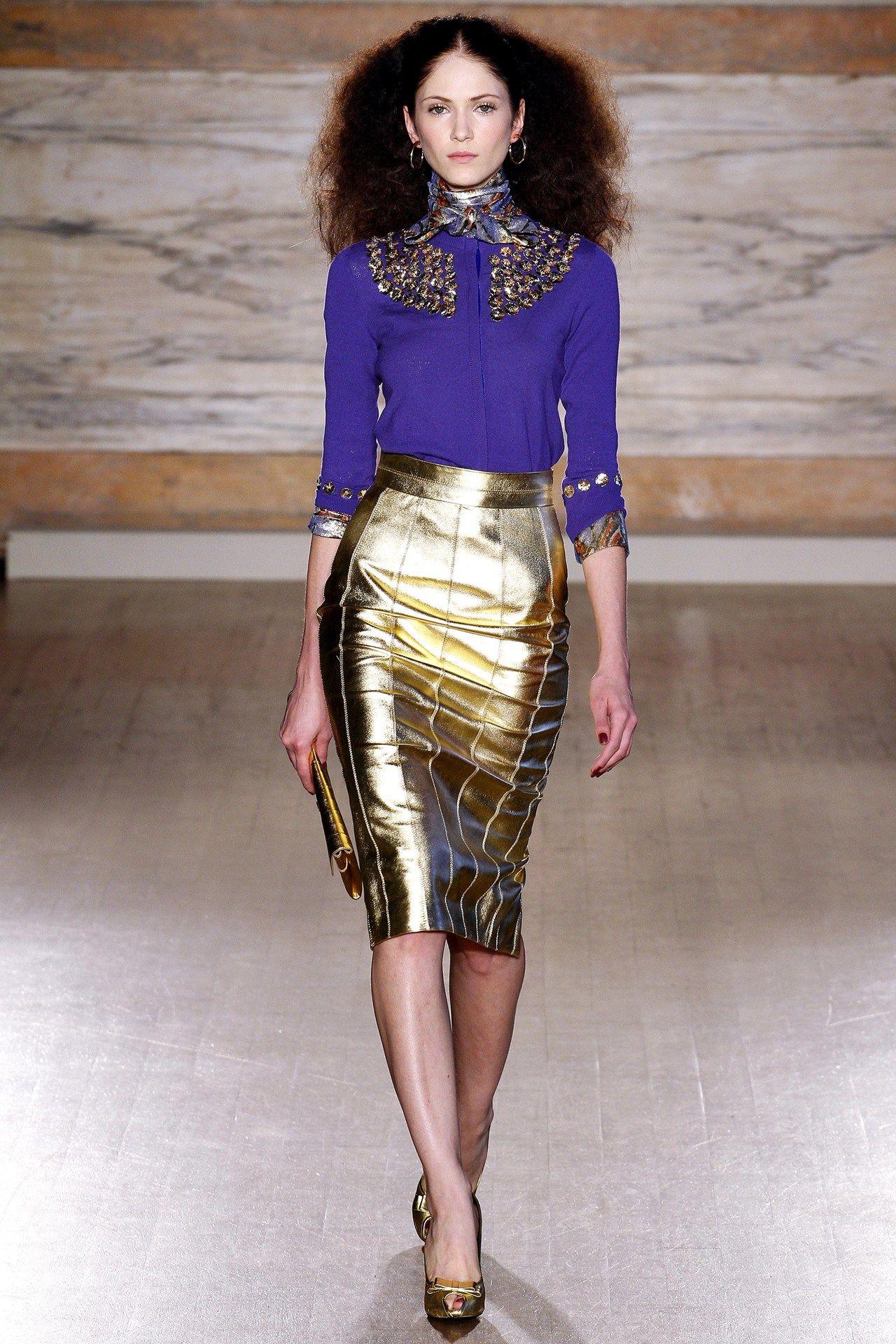 L'Wren Scott - gold metallic skirt