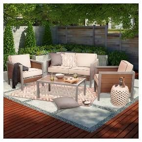 Threshold™ Bryant Faux Wood/Sling Patio Furniture ... on Target Outdoor Living id=31627