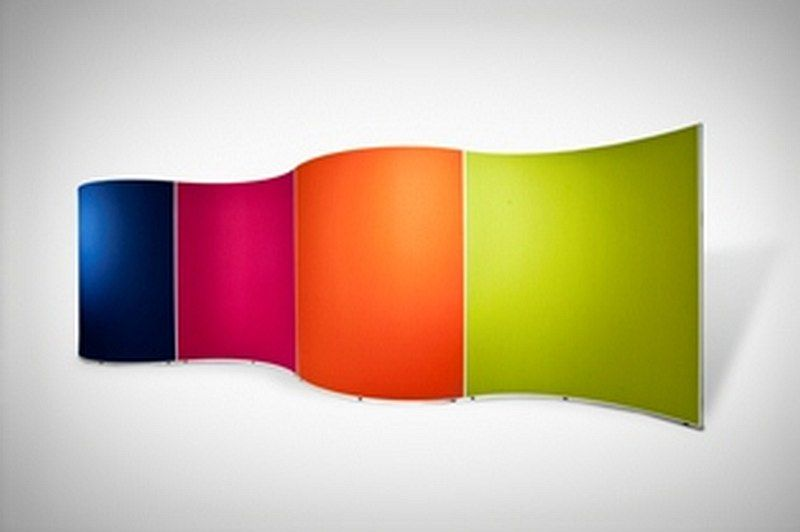Colourful curved screens | Corporate Office Space | Research ...