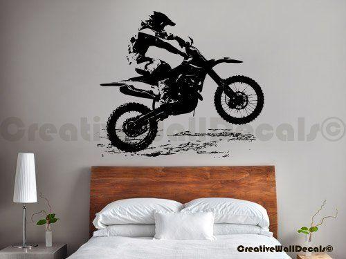 Vinyl Wall Decal Sticker Dirty Motocross Bike Moto Kids Gift Bedroom R1737 Part 30