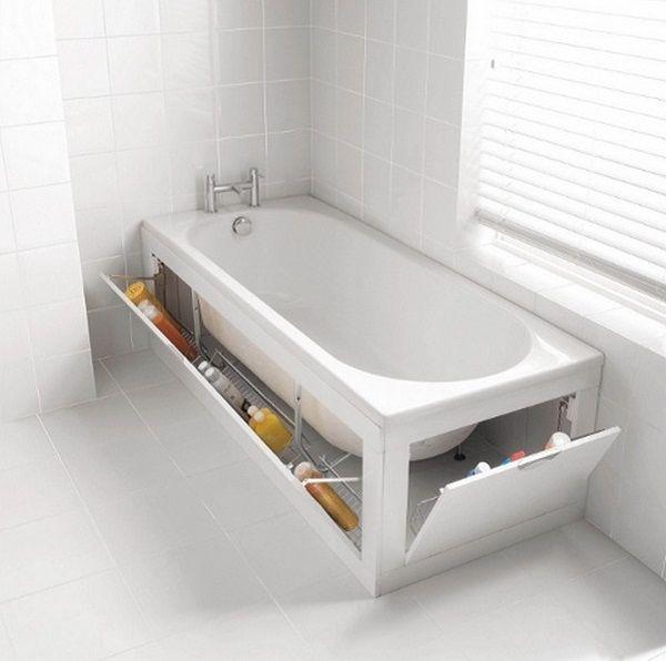 12 super id es de rangement pour mieux organiser votre for Rangement salle de bain baignoire