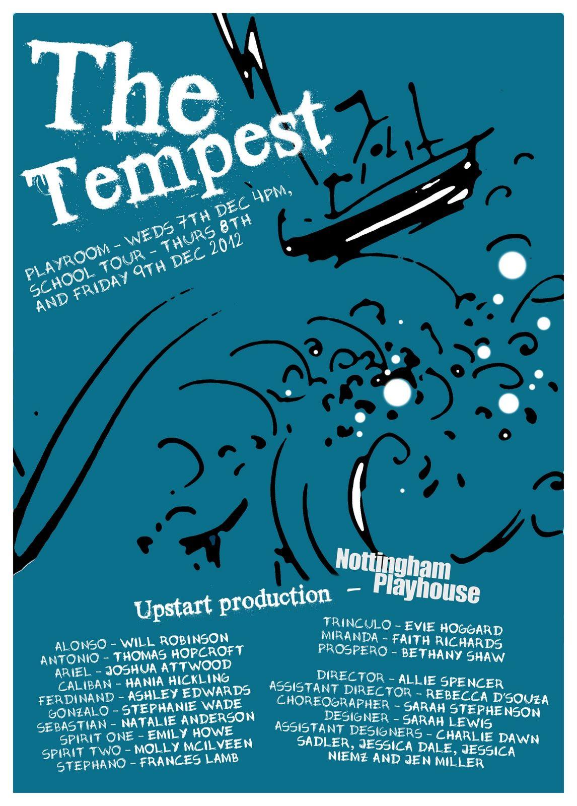 Poster design maker - My Poster Design For The Tempest Upstart Production I Ve Just Designed At The Nottingham Playhouse