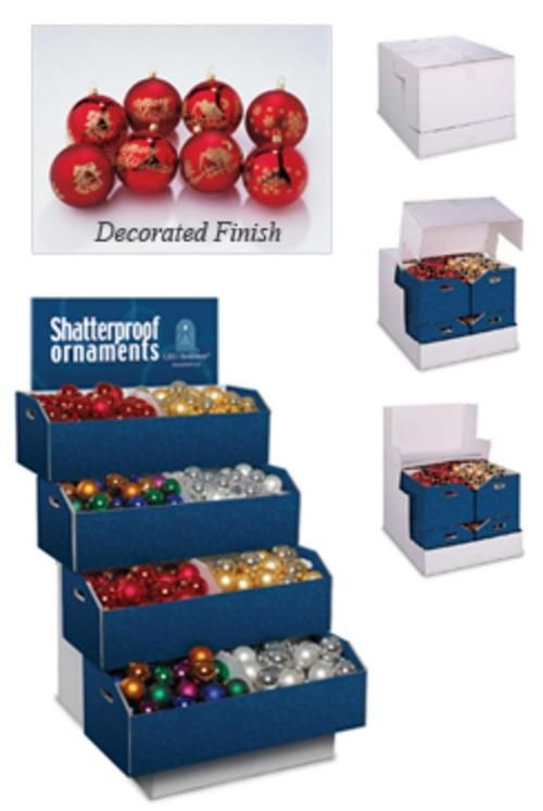 """Pack of 492 Multi-Color Shatterproof Christmas Ball Ornaments - 2.75"""" and 3.25"""" - 28264444 $55.99"""