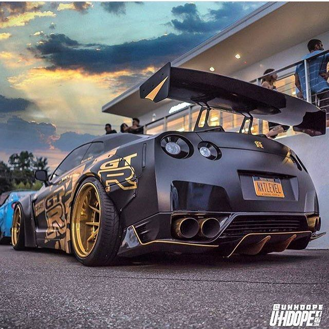 Matte black and gold! Photo via: @uhhdope Second page: @M85Media Other page: @StancedAutohaus #AmazingCars247 #driver #vehicles #horsepower #exoticcar