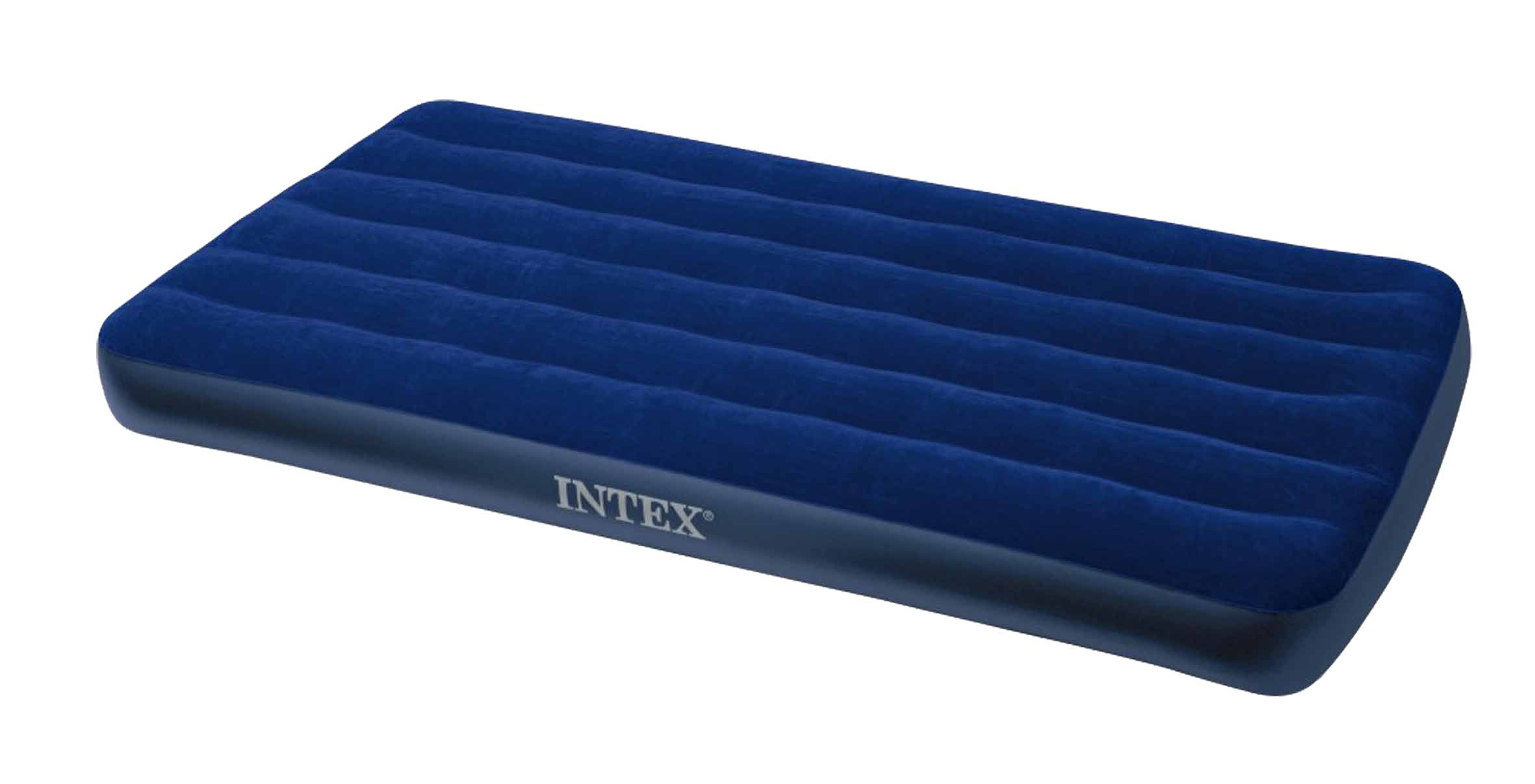 Amazon Com Intex Classic Downy Air Bed Royal Blue Twin Size