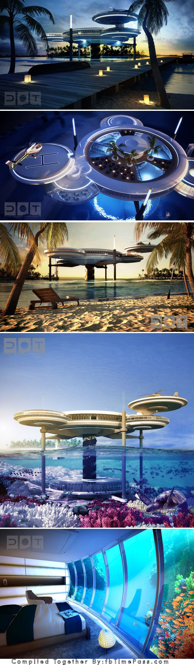 Dubai Reveals Plans For Amazing Underwater Hotel Water Discus Underwater Hotel Will Comprise Two Discs An Underwater And A Underwater Hotel Hotel Underwater