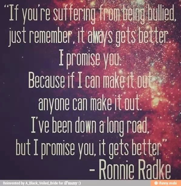 See, Ronnie Isnt Such A Bad Guy. He Has Done Some Really