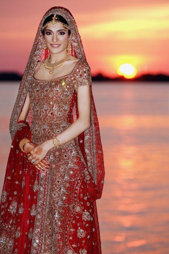 vestido de novia hindu