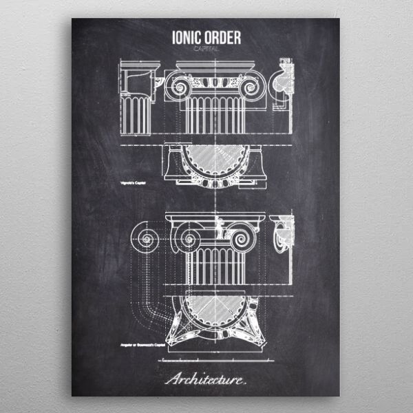 ionic order by FARKI15 DESIGN | metal posters - Displate | Displate thumbnail