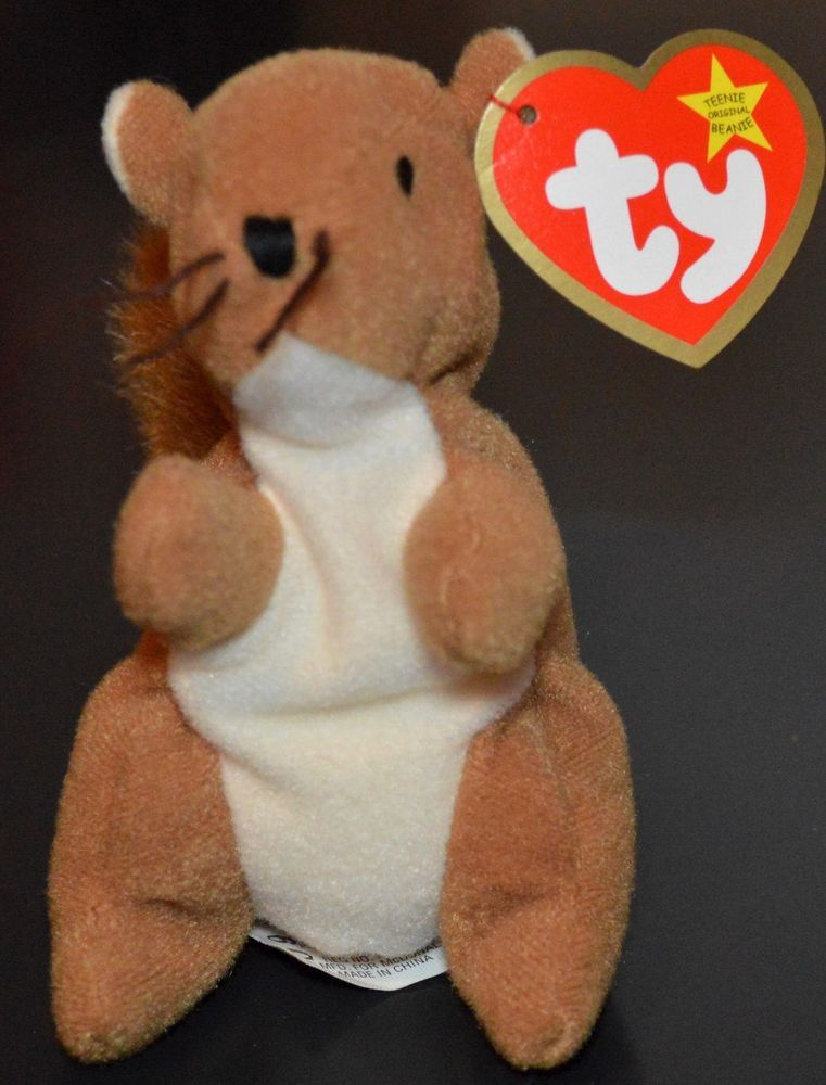 2177de65cc2 TY Teenie Beanie Baby  Nuts the  Squirrel McDonald s Limited Edition 1993   Ty