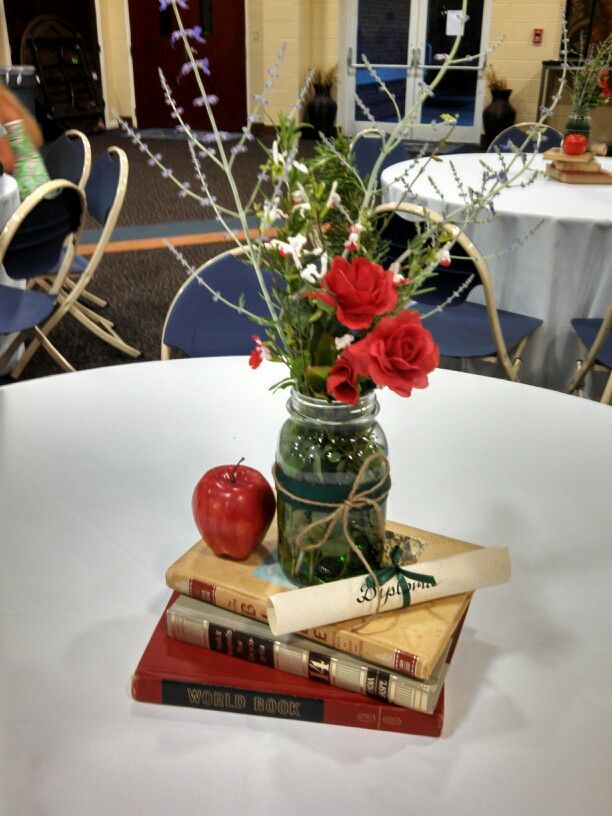 Easy Graduation Centerpieces : For our son s graduation reception