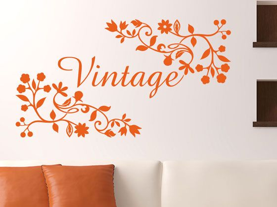 Beautyfull Vintage Wandtattoo PINTAR Pinterest - wandtattoo wohnzimmer retro