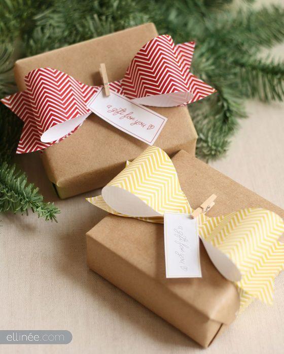 Häufig idée noel paquet cadeau original noeud bow / mademoiselle cereza  BK65