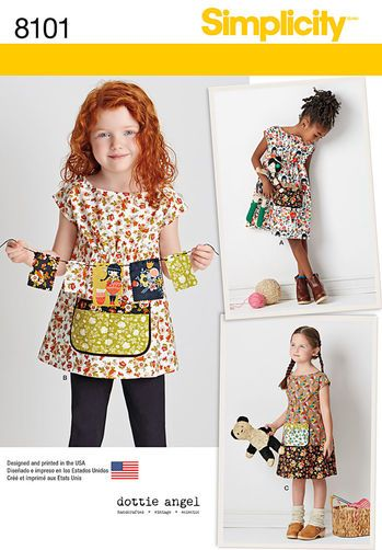 Pattern 8101 Child's Dress and Tunic from Dottie Angel
