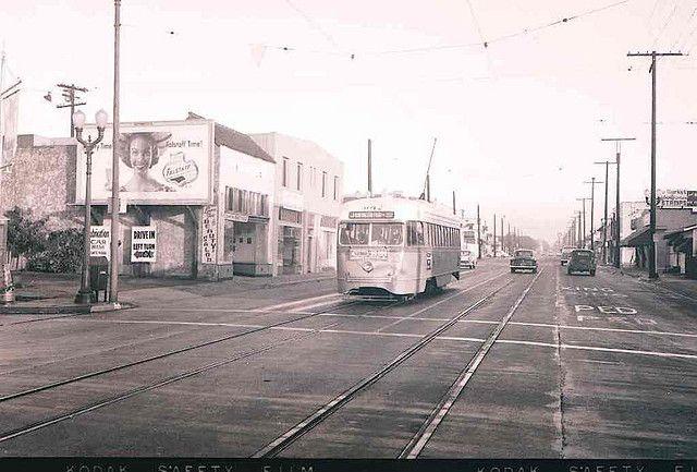 (1955) J line 3012 Southbound on Seville Avenue in Walnut Park