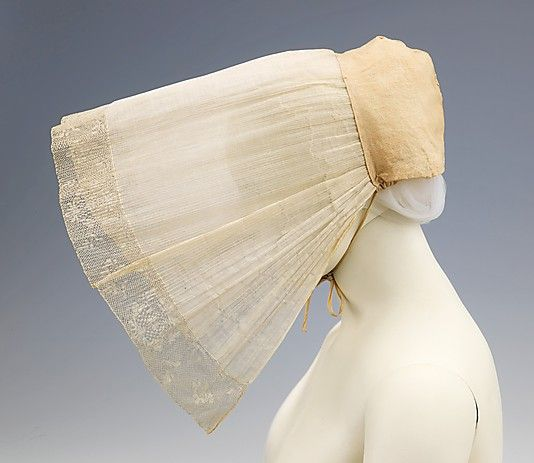 19th century French cotton cap. Brooklyn Museum Costume Collection at The Metropolitan Museum of Art, Gift of the Brooklyn Museum, 2009; Gift of Dorothea and Margaret Reimer, 1924