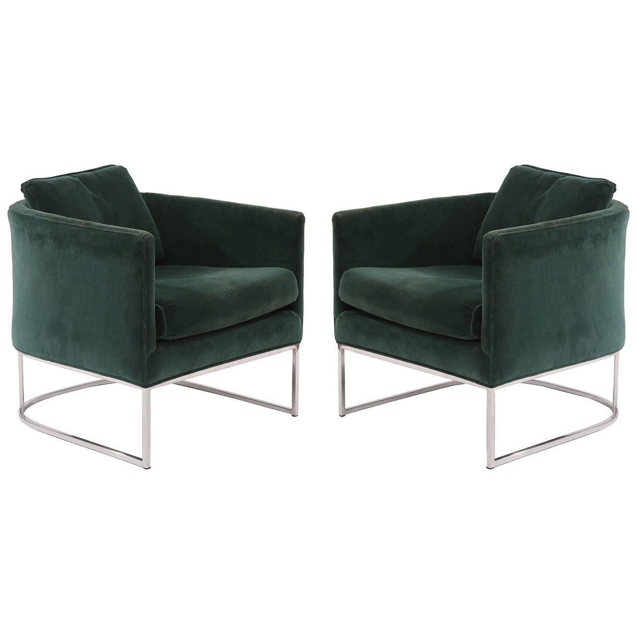 milo baughman furniture. Milo Baughman Thayer Coggin Velvet And Steel Lounge Chairs Furniture