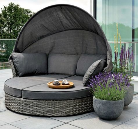 polyrattan sonneninsel maxioase wird zur komfortablen gartenliege garten pinterest. Black Bedroom Furniture Sets. Home Design Ideas