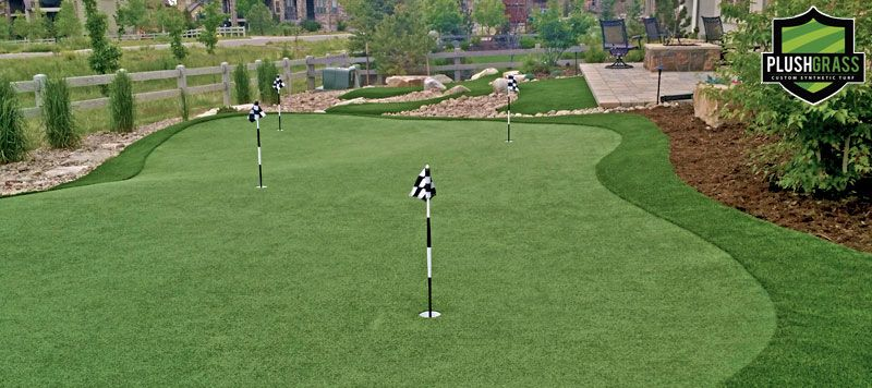 Suburban Denver artificial putting green installation by ...