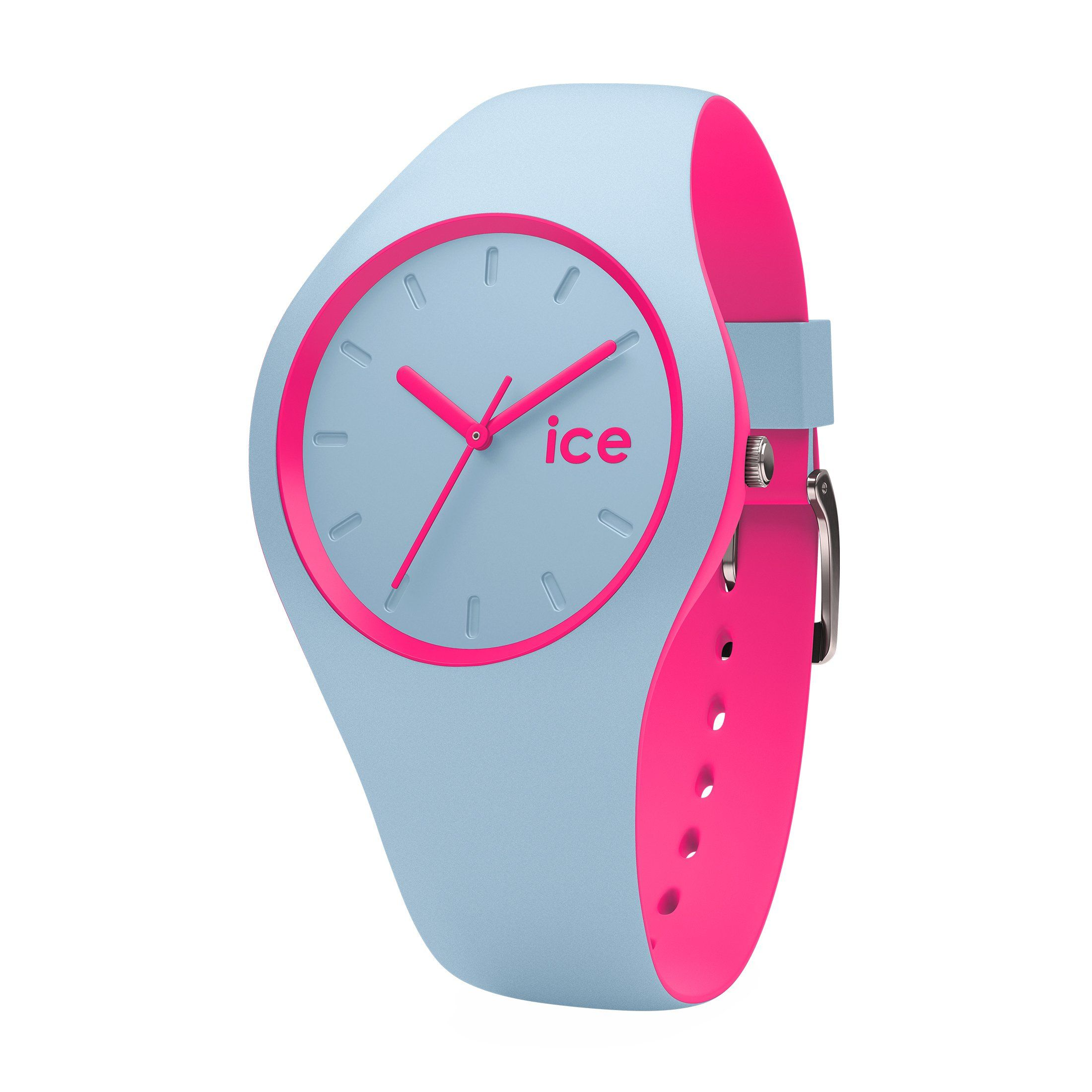 Ice-Watch Ice Duo Silicone Blue Pink Medium Women s Watch 001499 ... 1a93daf38fe6