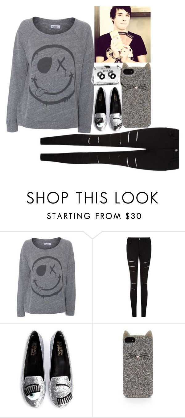 """""""Untitled #69"""" by weirdness-at-its-best ❤ liked on Polyvore featuring LAUREN MOSHI, Chiara Ferragni, Kate Spade and Chanel"""