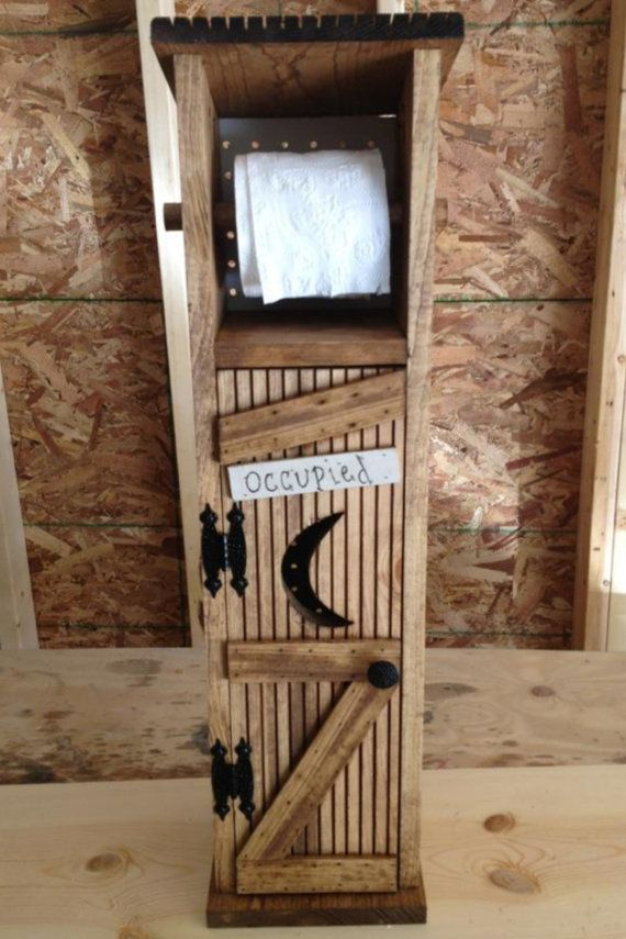 outhouse toilet paper holder by jayscountrycreations on. Black Bedroom Furniture Sets. Home Design Ideas