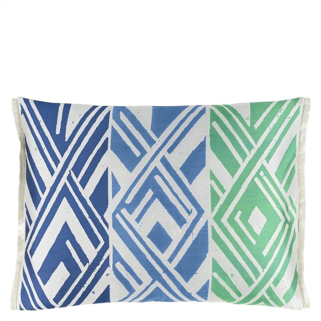 Designers guild valbonella cobalt cushion from british fabric and