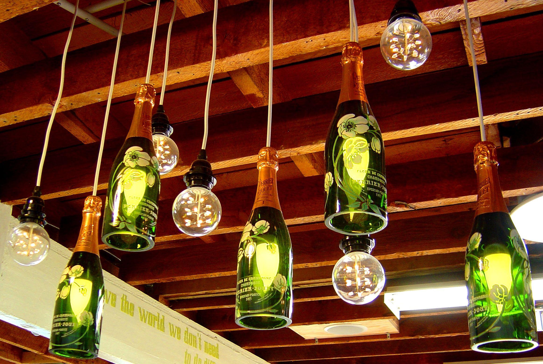 Champagne Bottle Chandelier Bottle Chandelier Wine Bottle Chandelier Lighted Wine Bottles