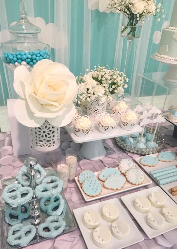 Heaven Sent Baby Shower Baby Shower Candy Table Baby Shower Candy Angel Baby Shower