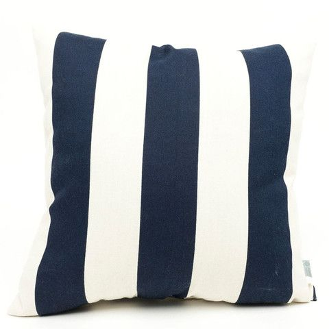 definitely one of our most popular throw pillows navy blue stripes on a white background - Popular Throw Pillows