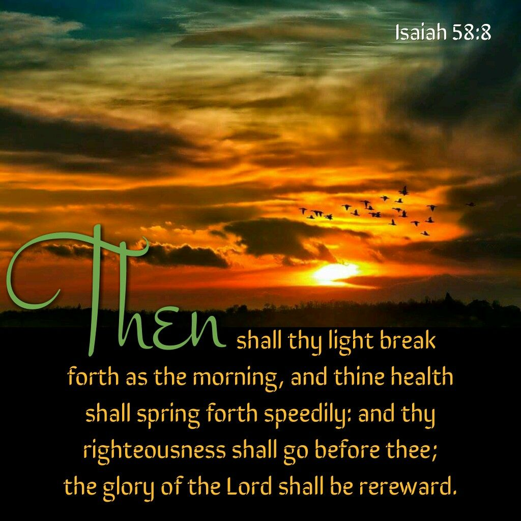Image result for isaiah 58:8 king james