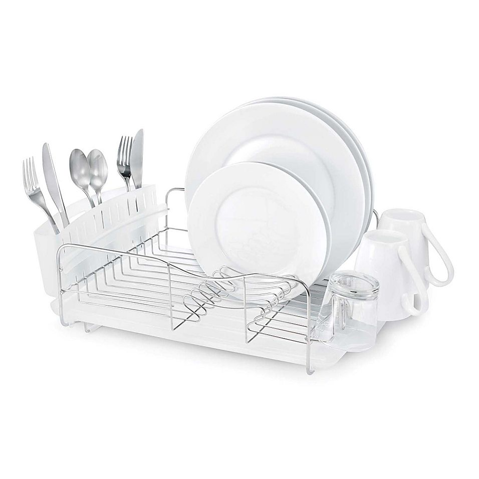 Polder Advantage 3 Piece Stainless Steel Dish Rack Clear In 2020