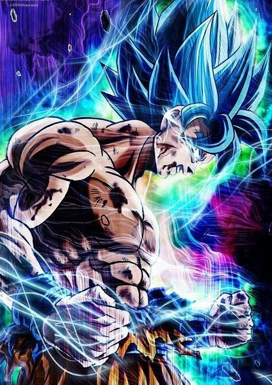Super Saiyan Blue Goku Battle Damage Push beyond limits!   Dragon ball gt, Fondos de pantalla ...